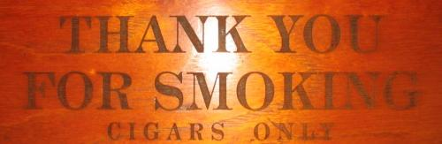 ty for smoking cigars only